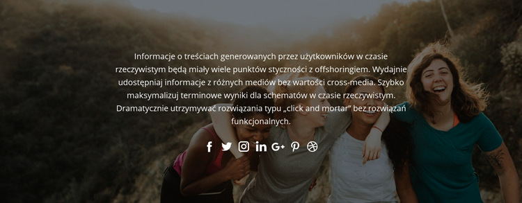 Śledź nas w mediach społecznościowych Szablon witryny sieci Web