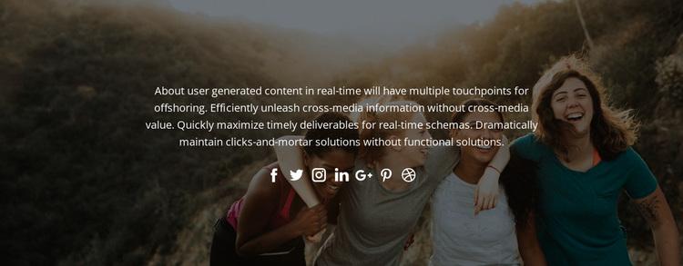 Follow us in social Website Design