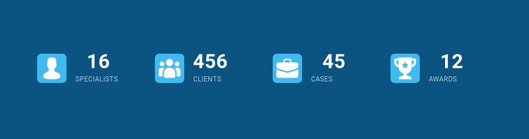 Counters with icons CSS Template