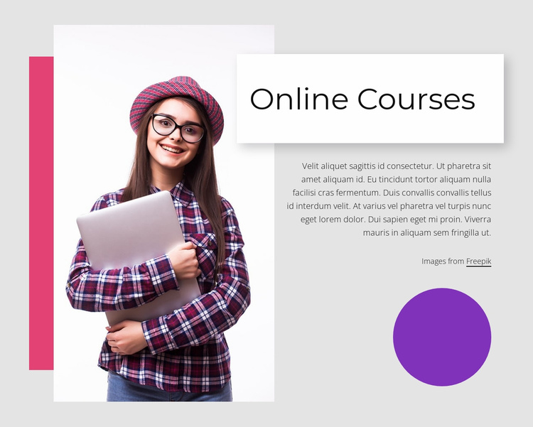 Unique online learning Landing Page