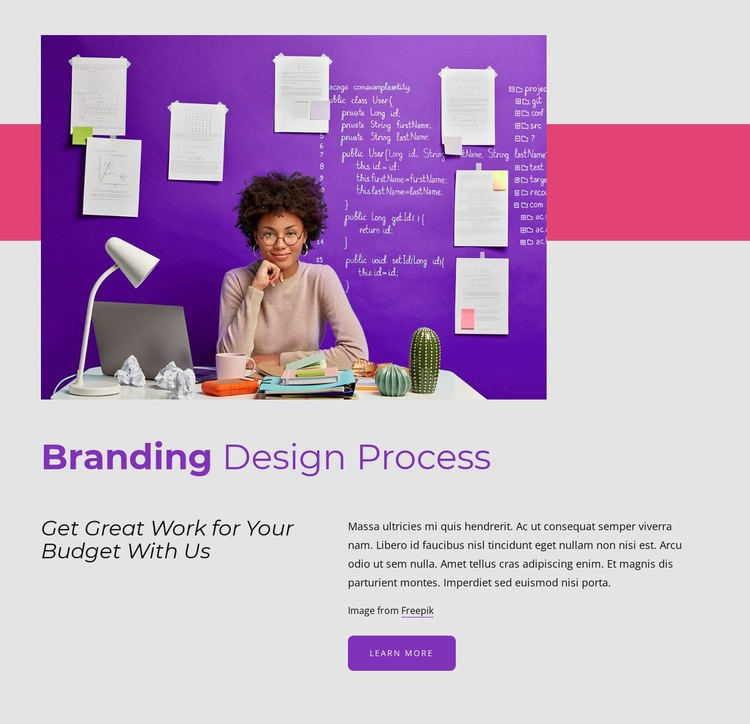 Branding design process Html Code Example