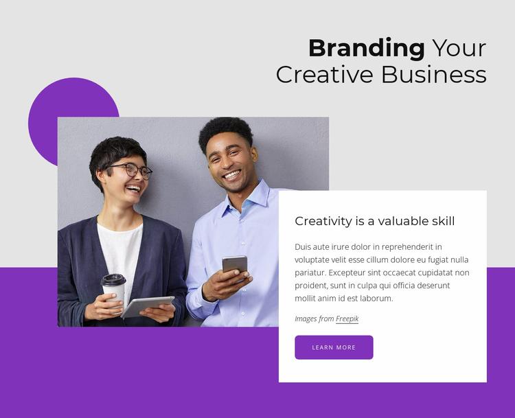 Branding your creative business Website Template
