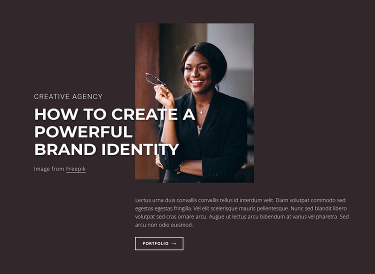 Powerful brand identity Website Template