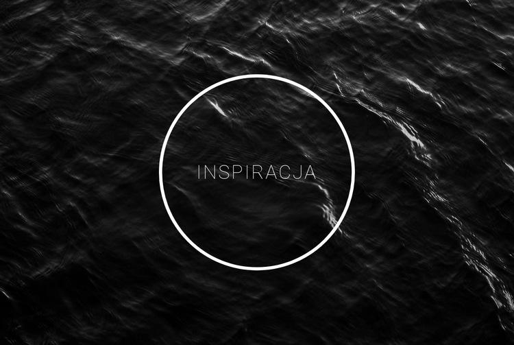 Czarno-biała inspiracja Szablon witryny sieci Web