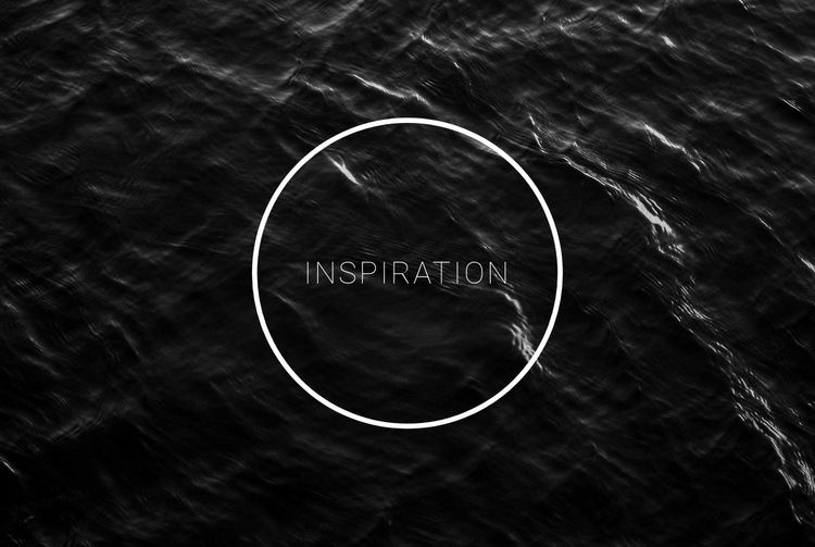 Black and white inspiration Web Page Design