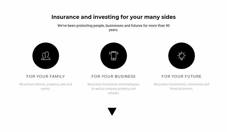 Three directions of work Website Design