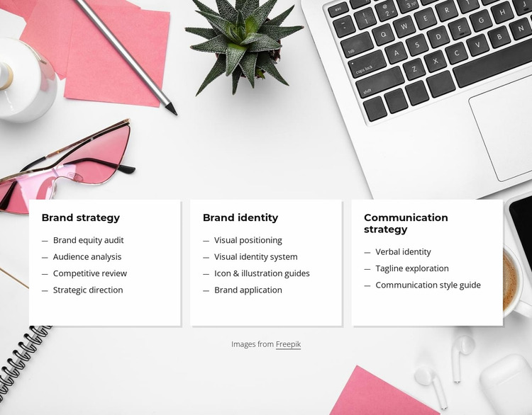 Small business branding services Website Mockup