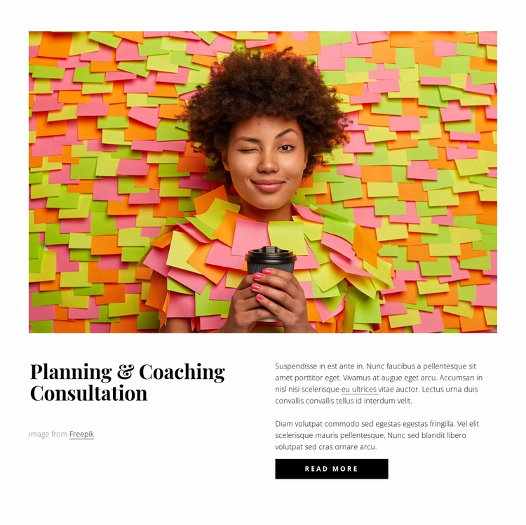 Planning and coaching consultation Website Template