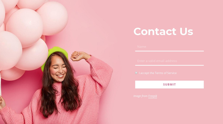 Contact the events company HTML Template