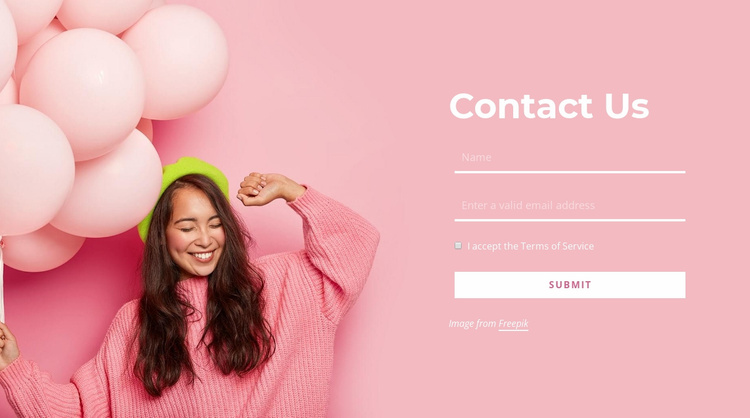 Contact the events company Website Template