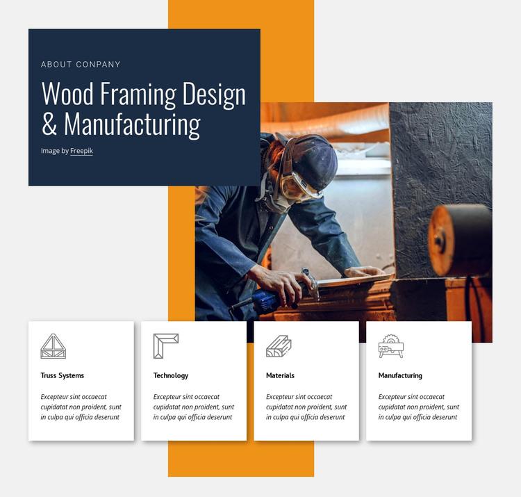 Wood framing design HTML Template
