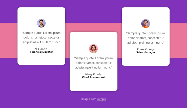 Testimonials with shape HTML Template