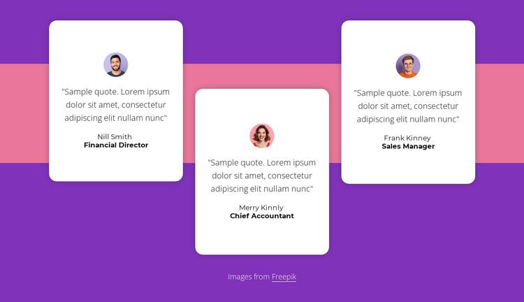 Testimonials with shape Website Builder Software