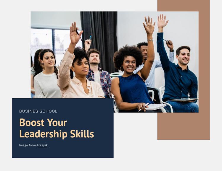 Boost your leadership skills Website Mockup
