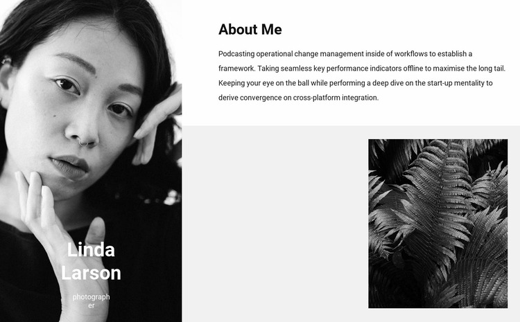 Designer services Website Mockup