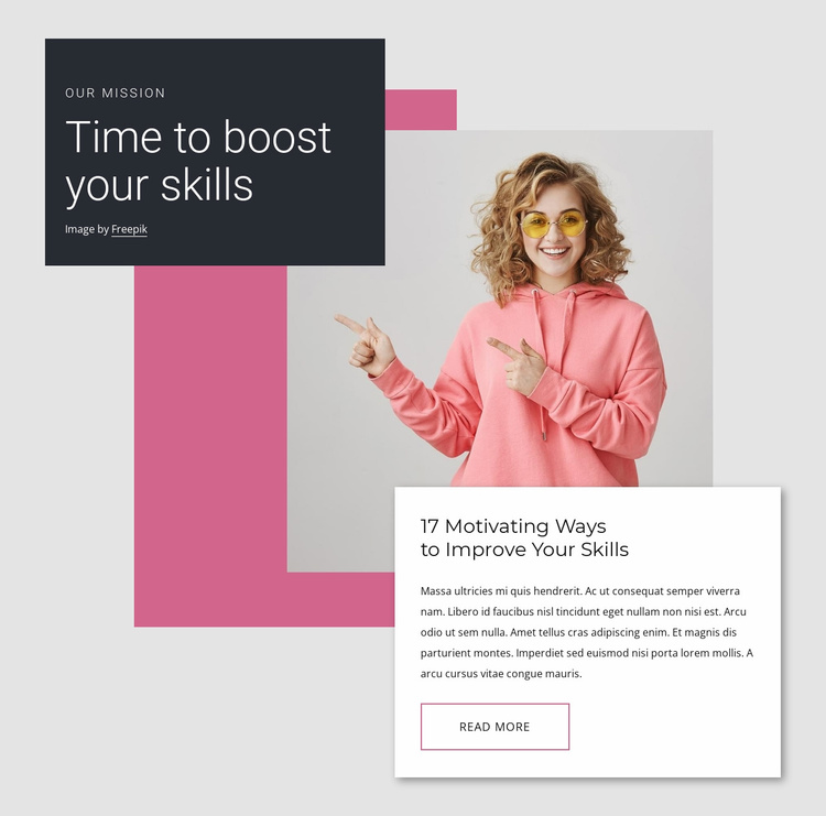 Boost your knowledge Website Template