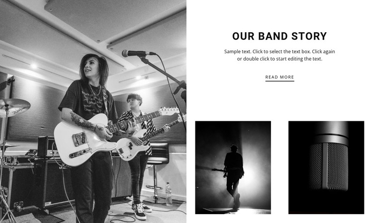 The history of our jazz band HTML Template