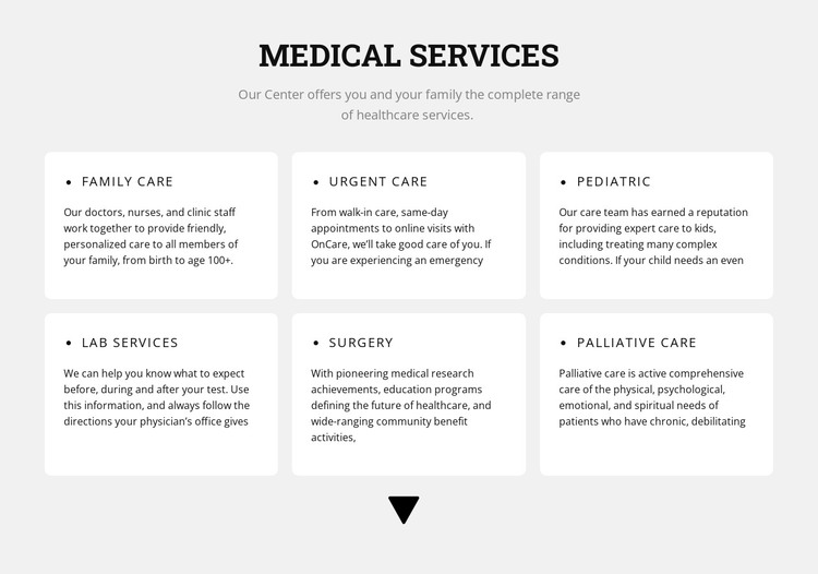 Medical directions HTML Template