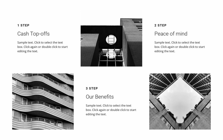 Three important steps Website Template