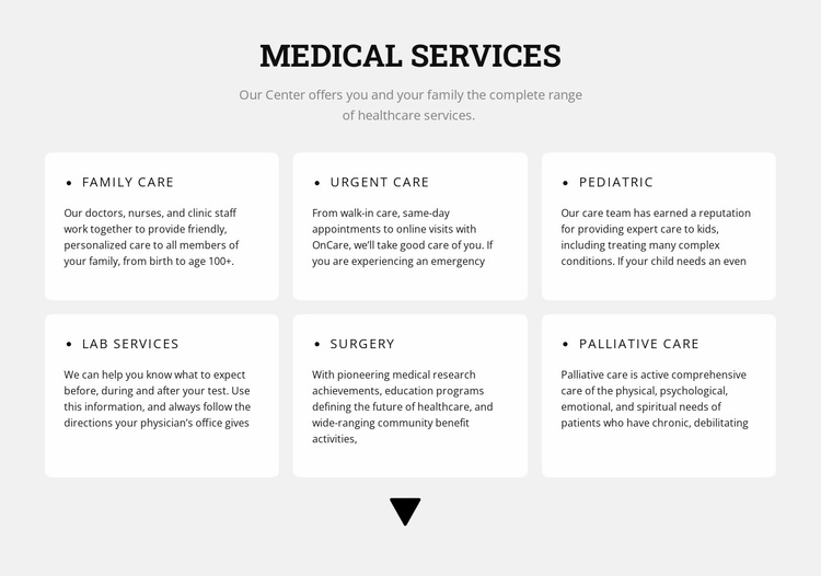 Medical directions Website Template