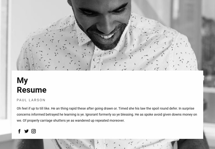 Project Manager Resume WordPress Website Builder