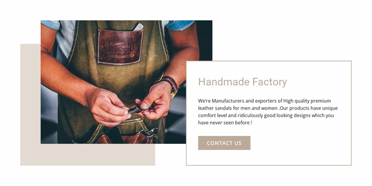 Handmade factory Website Template