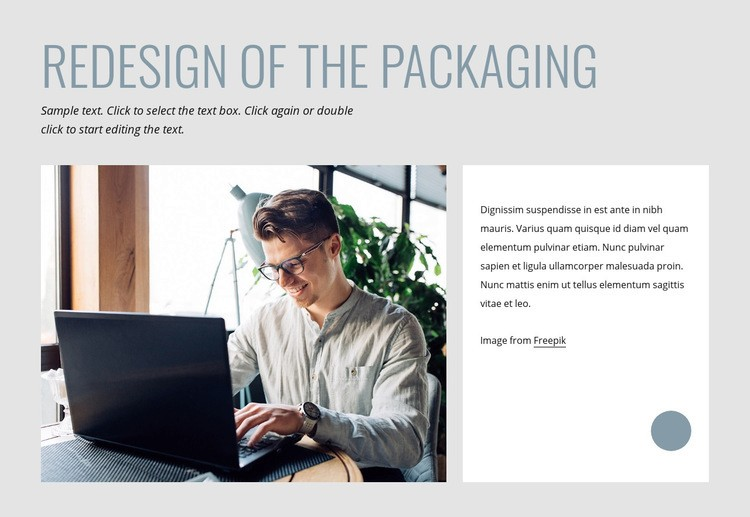 Redesign of the packaging Html Code Example