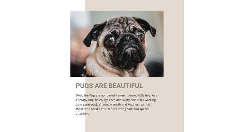 Pugs are Beautiful HTML Template