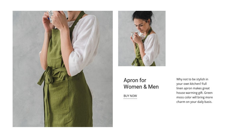 Apron for Woman and Men HTML Template