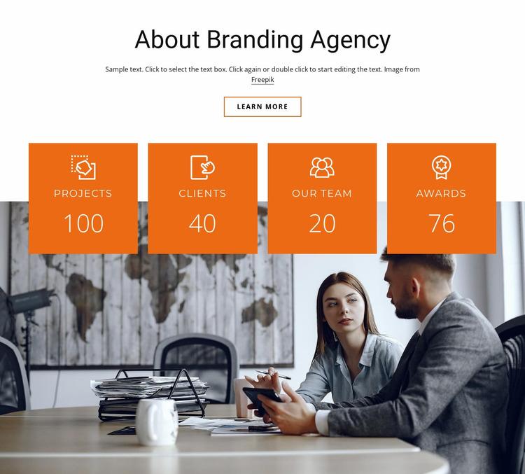 Branding agency benefits Website Mockup