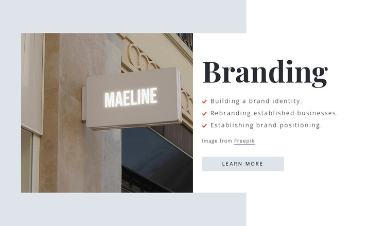 We create catchy names HTML Template