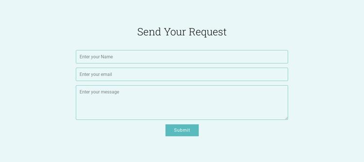 Send Your Request Website Builder Software