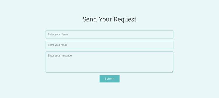 Send Your Request WordPress Website Builder