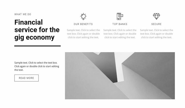 We raise the economy Website Template