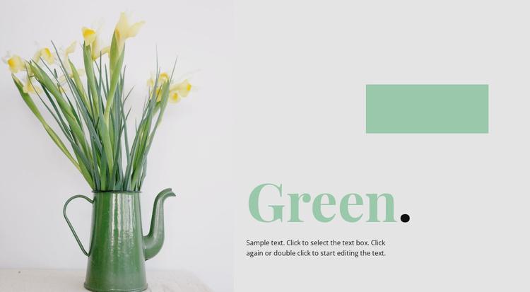 Flower studio Website Template
