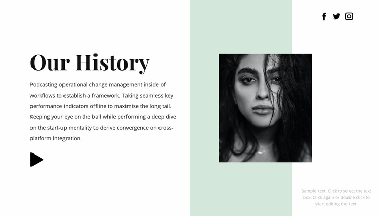 Read our story Website Template