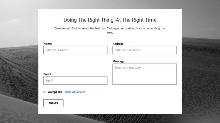Agency contacts form Html Code Example