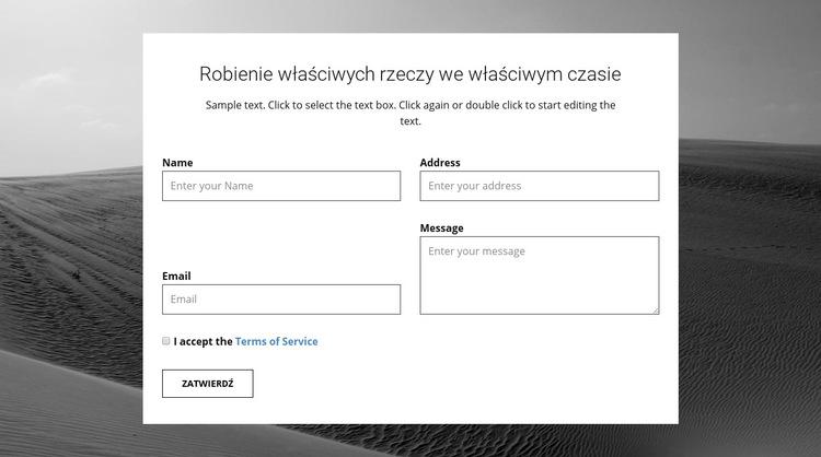 Formularz kontaktowy agencji Szablon witryny sieci Web