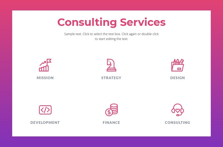Consulting services for businesses Html Code Example