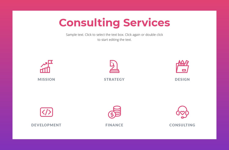 Consulting services for businesses Joomla Page Builder