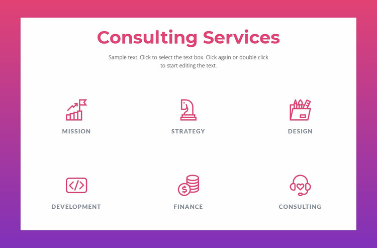 Consulting services for businesses Website Mockup