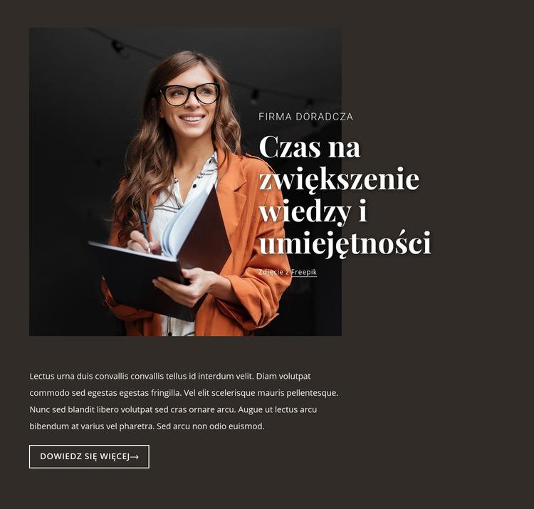 Edukacja korporacyjna Szablon witryny sieci Web