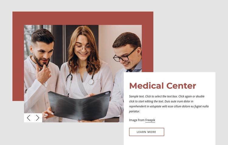 International medical center Web Page Designer