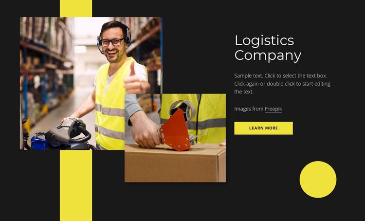 Logistics service near you Website Template