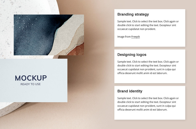 Branding agency services HTML Template