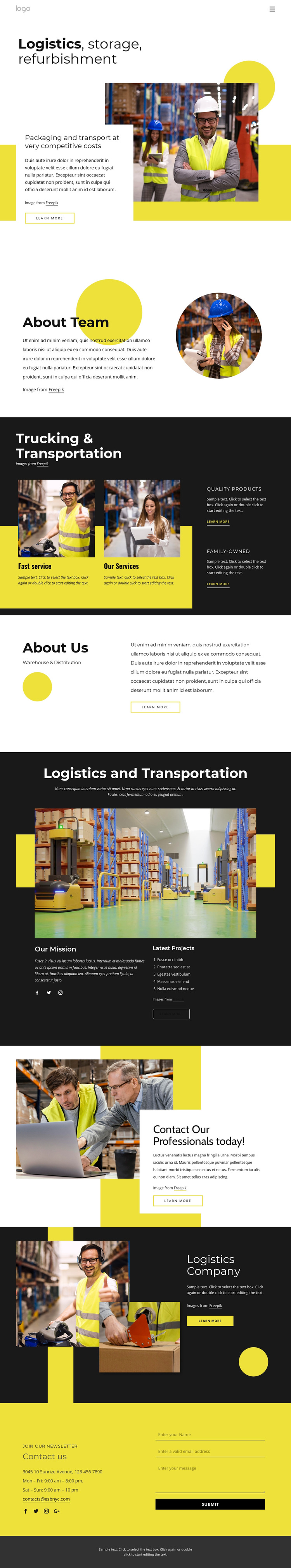 Contact our professionals today Template