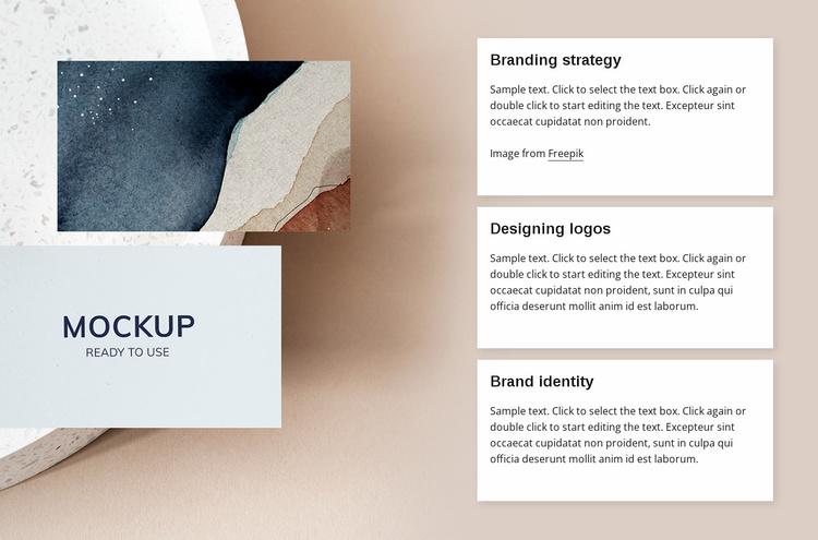 Branding agency services Website Template