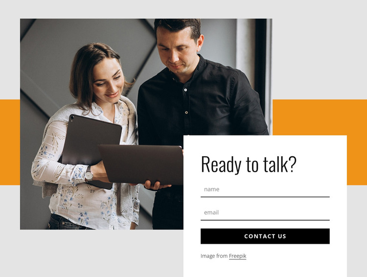 Contact form with rectangle and image HTML Template