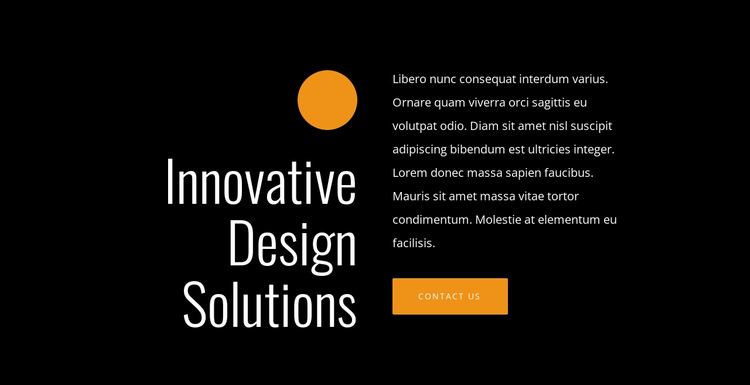 Innovative design solutions One Page Template