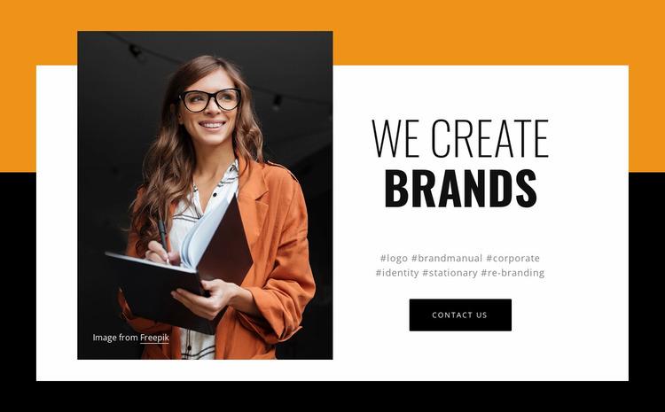 Digital experiences for brands Website Mockup